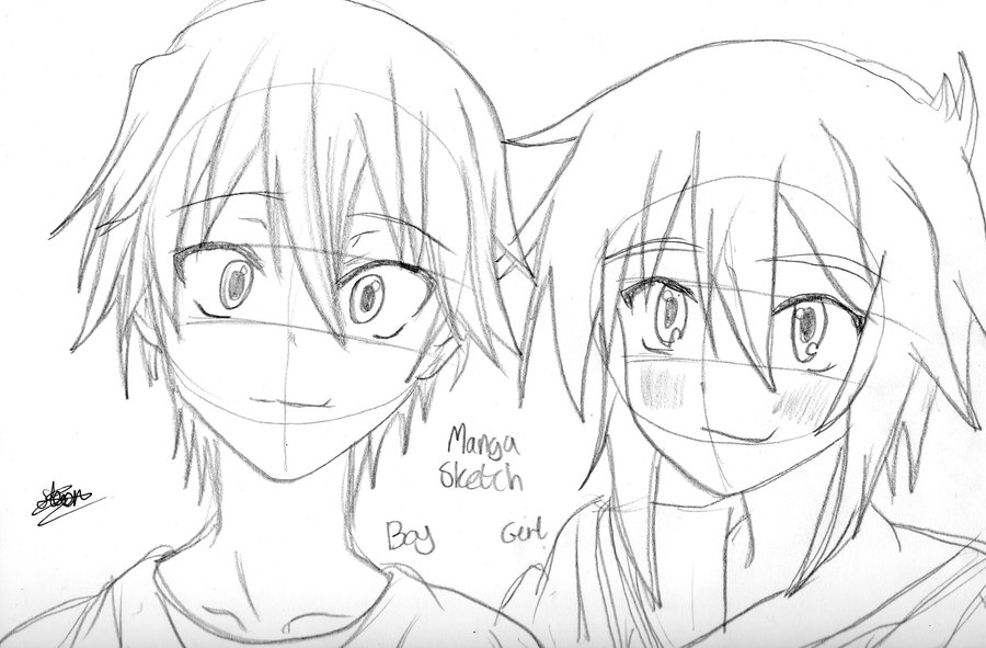 Drawing Anime Boy And Girl Nextculture