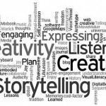 tag cloud of storytelling