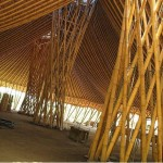 Bamboo structure in Bali, the same material for bamboo homes